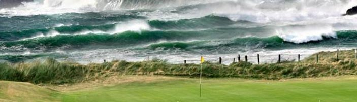 Amazing backdrop on 4th green at Trevose Golf Club
